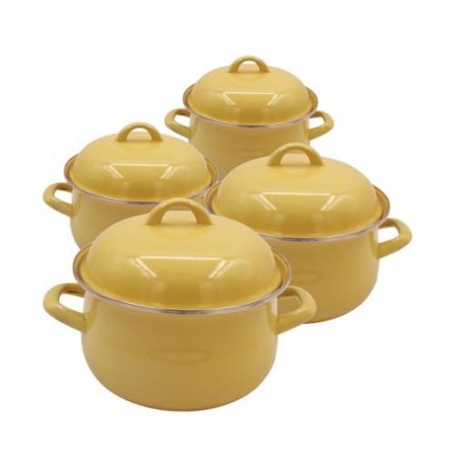 Κατσαρόλες Εμαγιέ Set 2012ECN+2213ECN+2414ECN+2615ECN